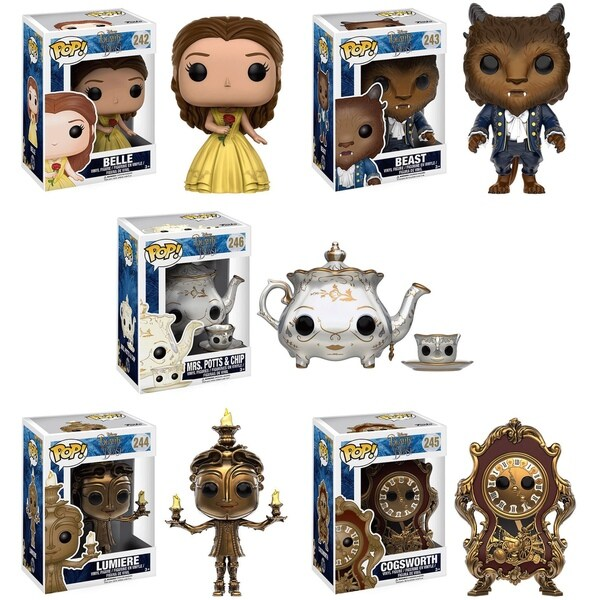 Funko Pop Disney's Beauty and the Beast Vinyl 3.75-inch Figures (Pack of 5) 23937126