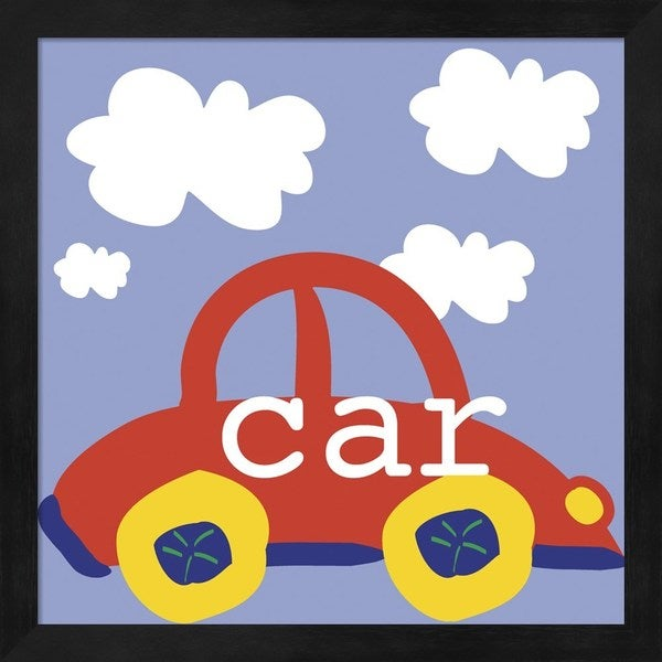 Erin Clark 'Red Car' Framed Art 23970044
