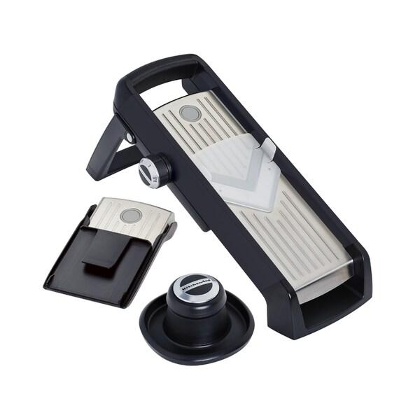 Kitchenaid Gourmet Black Plastic and Stainless Steel Mandoline Slicer 23972543