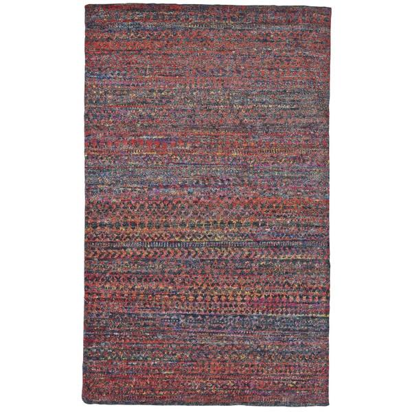 Grand Bazaar Cherry Hand-knotted Samarra Area Rug (5'6 x 8'6) 23974562