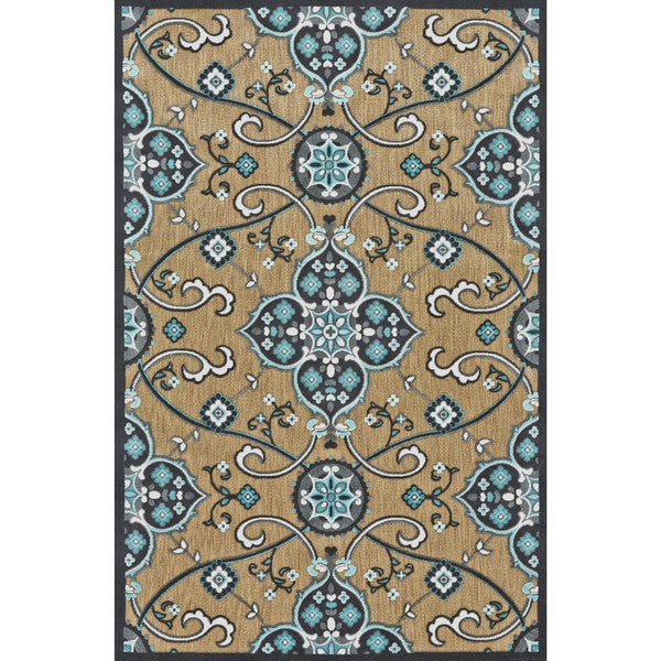 "Grand Bazaar Marne Tan / Charcoal Area Rug (2'1"" x 4') - 2'1 x 4' 23977142"