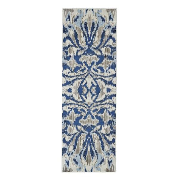 "Grand Bazaar Carini Blue Haze Runner/ Tread (2'7"" x 8') - 2'7"" x 8' 23977409"