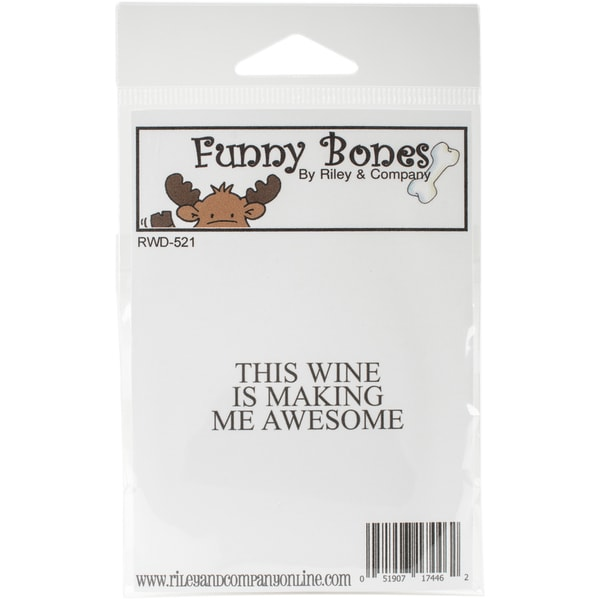 Riley & Company Funny Bones Cling Stamp 2X1-Awesome Wine 23985531