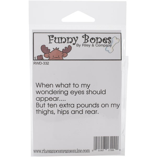 Riley & Company Funny Bones Cling Stamp 3X1.25-Wondering Eyes 23985575