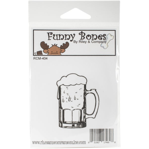 Riley & Company Cling Stamp 1.5X2-Large Beer Mug 23985701
