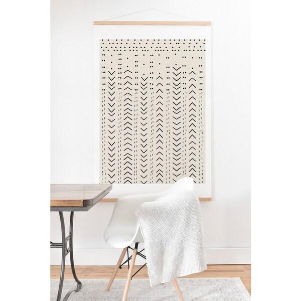 Iveta Abolina 'Mud Cloth Inspo VIII' Art Print and Oak Hanger 23992461