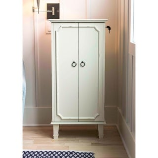 Hives and Honey Cabby Jewelry Armoire White