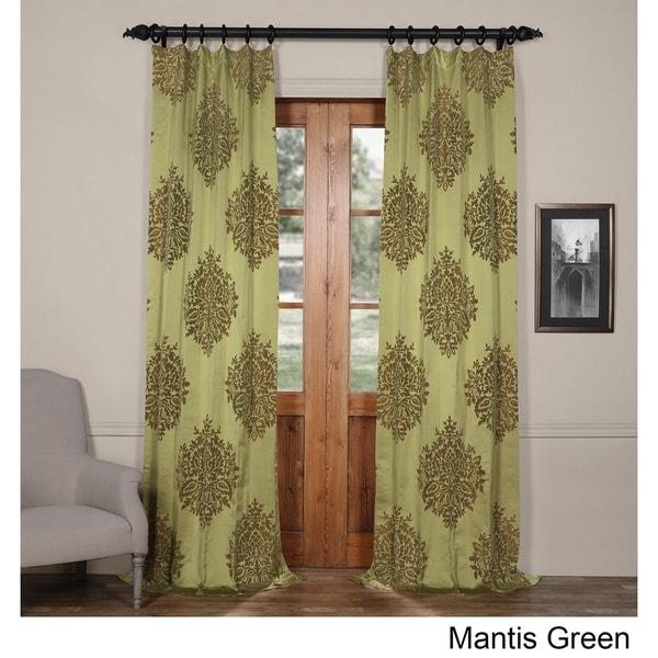Exclusive Fabrics Ellaria Faux Silk Jacquard Curtain Panel 24458876
