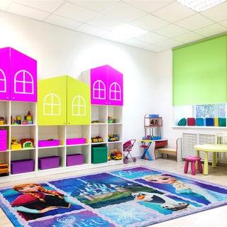 Disney Frozen Multicolor Polyester Kids Rug by Gertmenian - 4'6 x 6'6