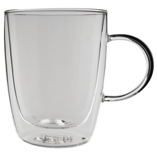 Javafly Double-walled Clear Glass 12-ounce Coffee Cup (Set of 2) 24010968