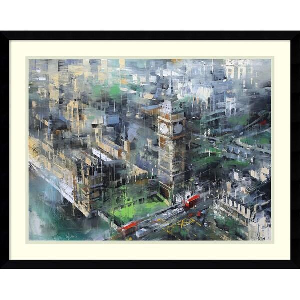 Framed Art Print 'London Green - Big Ben' by Mark Lague 29 x 23-inch 24014101