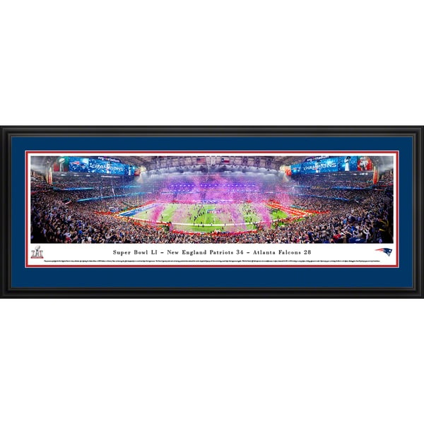 2017 Super Bowl Champions, New England Patriots, Blakeway Panoramas Framed NFL Print 24019300