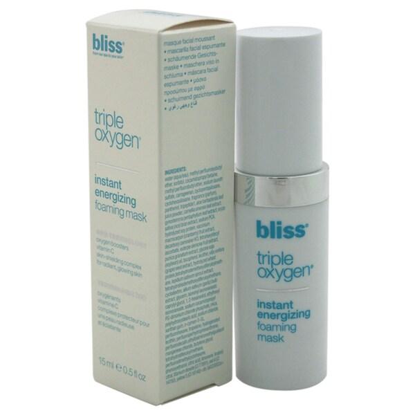 Bliss Triple Oxygen Instant Energizing Foaming Mask, 0.5 oz 24019625
