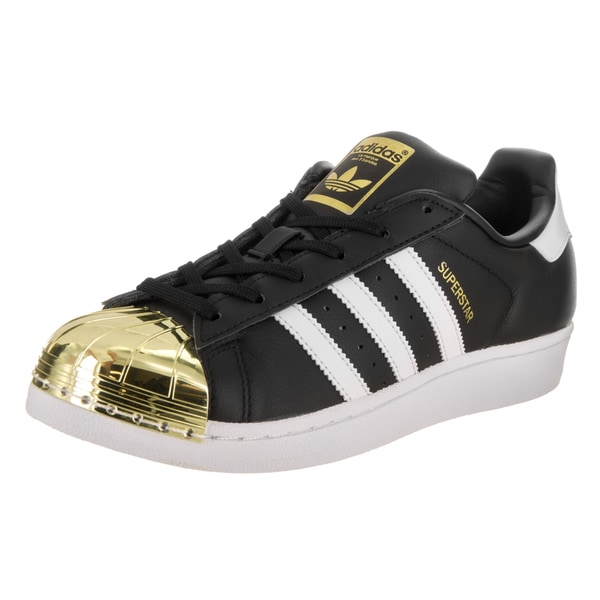 Adidas Women's Superstar Metal Toe Originals Black Synthetic Leather Basketball Shoes 24056455