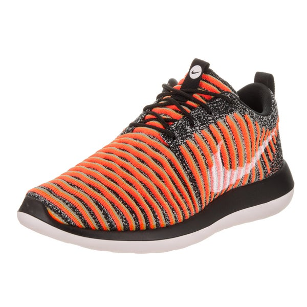 Nike Women's Roshe Two Flyknit Black Textile Running Shoes 24056508