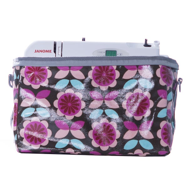 Janome Small Sewing Machine Tote Bag in Vinvyl Material with Polka Dot Print 24057549