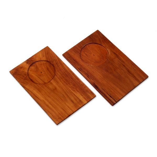 Handmade Wood Tray, 'Clock Tower' (Indonesia) 24060151