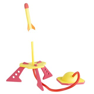 Toy Rocket Launcher with 3 Foam Rockets by Hey! Play! - 38 x 8.5 x 13