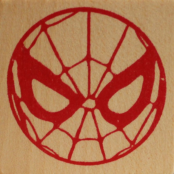 Marvel Comic Rubber Stamp -Spiderman Mask 24070821