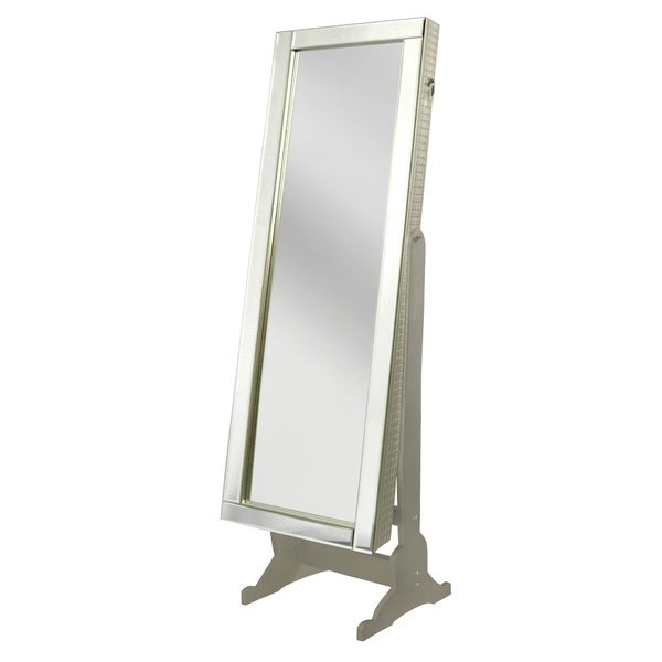 Chic Home Daze Jewelry Armoire Cheval Mirror, Full-length, Royal Champagne 24071424