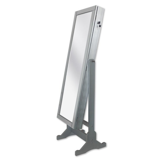 Chic Home Daze Jewelry Armoire Cheval Mirror, Full-length, Silver 24071432