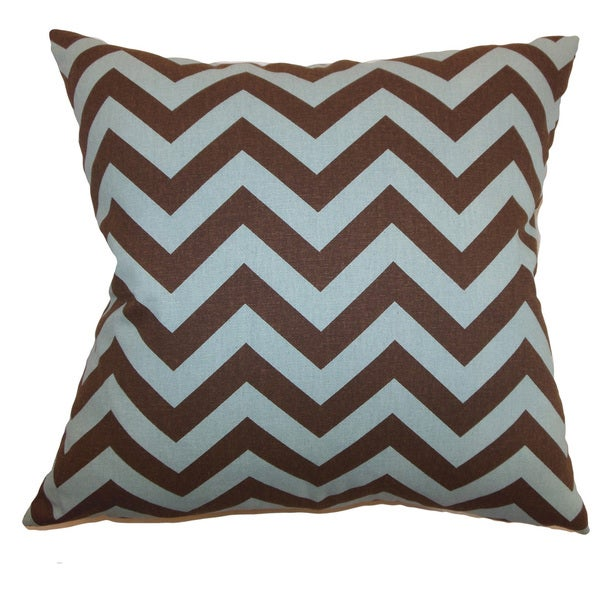 Xayabury Zigzag 22-inch Down Feather Throw Pillow Village Natural 24072598