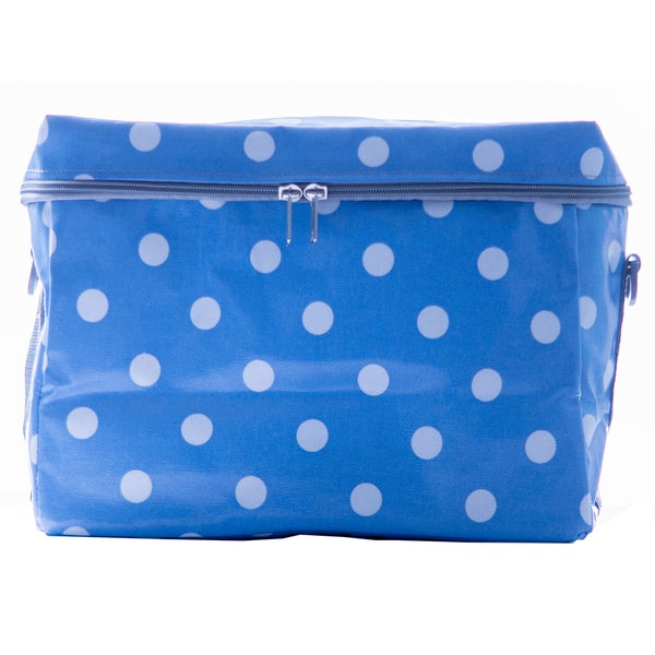 Janome Small Sewing Machine Tote Bag in Vinvyl Material with Polka Dot Print 24073573