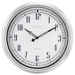 Equity by La Crosse 16-inch Indoor/Outdoor Silvertone Analog Wall Clock