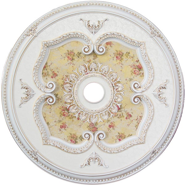 Light Fixture Accent Yellow Flower Ceiling Medallion 24083378