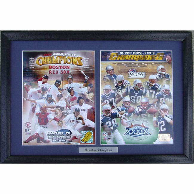 Red Sox and Patriots Baseball/Football Double Custom Two-photo Frame