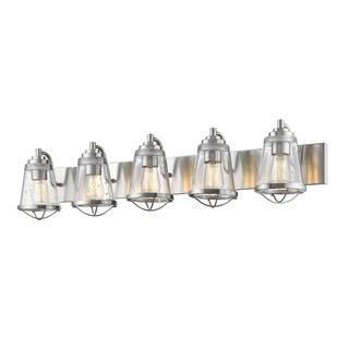 Avery Home Lighting Mariner Brushed Nickel 5 Light Vanity