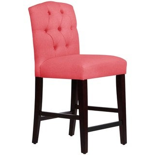 Skyline Furniture Custom Tufted Arched Counter Stool in Linen
