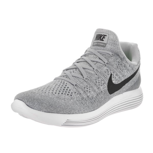 Nike Men's Lunarepic Low Flyknit 2 Grey Running Shoes 24116259