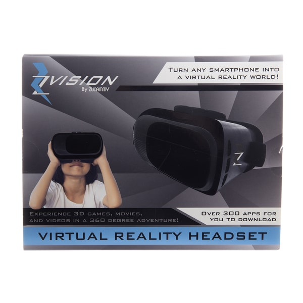 Zvision Virtual Reality Headset, Turn Any Smartphone Into A Virtual Reality World. - Black 24129077