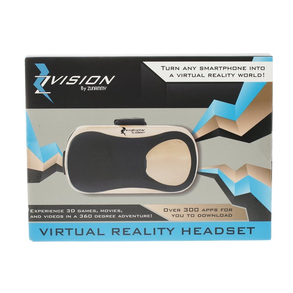 Gold Zvision Virtual Reality Headset, Experience 3D Games, Movies, And Videos in 360 Degree adventure 24129322