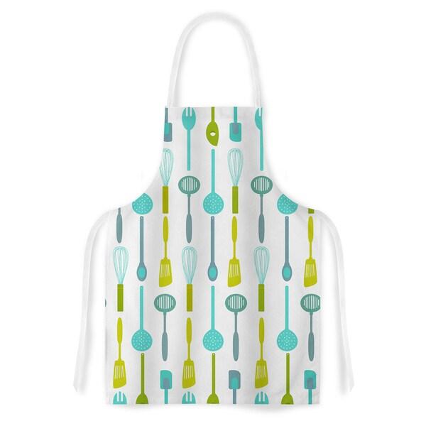 afe images 'Kitchen Utensils' Olive Illustration Artistic Apron