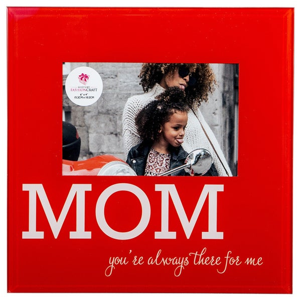 Red Glass 'Mom' Frame 24135950
