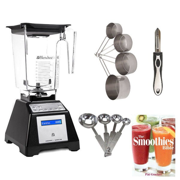 Blendtec TB-621-25 Total Blender Classic with WildSide Jar + Smoothie Bible and Kitchen Accessory Bundle (Certified Refurbished) 23059224