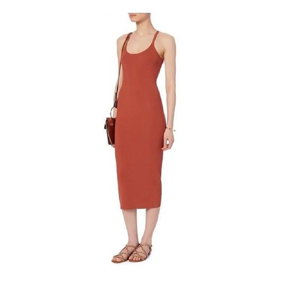 A.L.C. Women's Debi Rust Ribbed Tank Dress 24161584