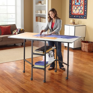 Sullivans Adjustable Foldable Home Craft & Hobby Sewing Machine Table