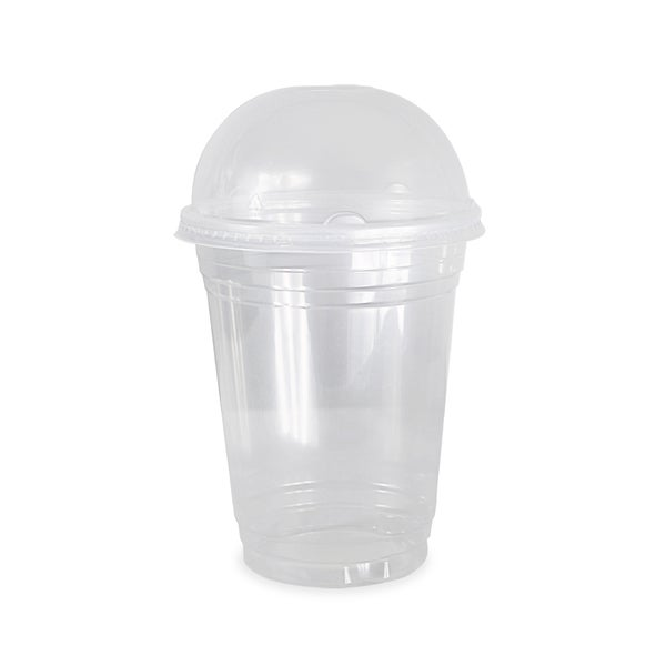 ePackageSupply Clear Plastic Disposable Cup with Dome Lid 24175860