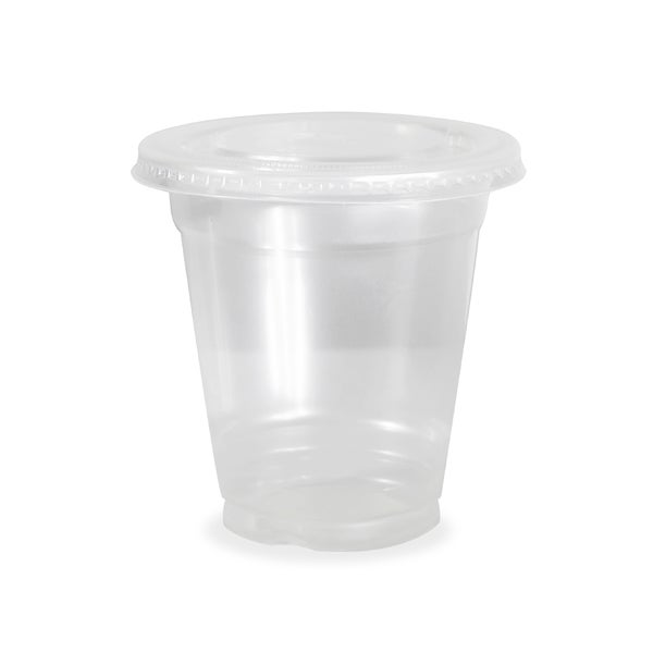 ePackageSupply Clear Plastic Disposable Cup With Flat Lid 24175972