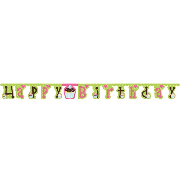 Sweet Treats Happy Birthday Jointed Banner (Pack of 6) 24176837