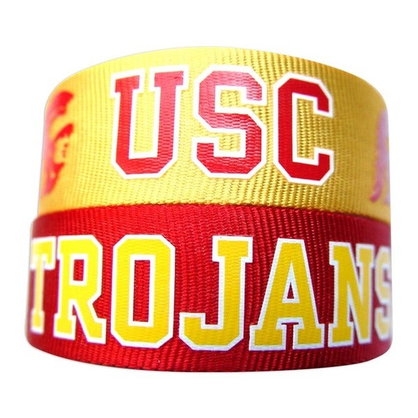 NCAA USC Trojans Slap Snap Wrap Wrist Band (Set of 2) 24183327