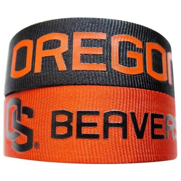 NCAA Oregon State Beavers Slap Snap Wrap Wrist Band (Set of 2) 24183329