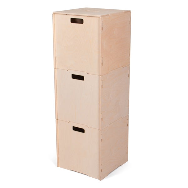 Stackable Wooden Storage Boxes with Lids 24199452
