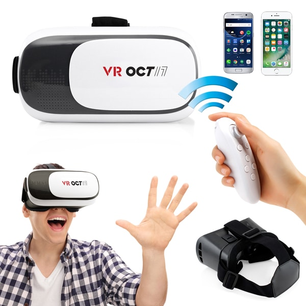 Oct17 VR 2.0 2nd Gen 3D Glasses Goggle with Bluetooth control remote For IOS Android Iphone 24199546