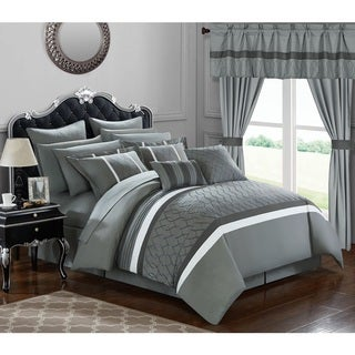 Chic Home 24-Piece Lance King Bed in a Bag Comforter Set