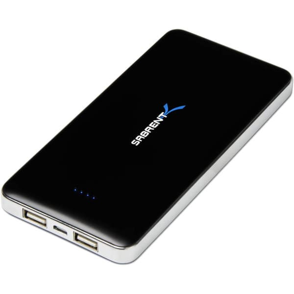Sabrent 12000mAh High Capacity External Backup Battery Charger Power Bank Charger with Dual USB Port (PB-W120) 24200066