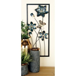 Set of 2 Natural 28 Inch Flower and Butterfly Wall Decor by Studio 350